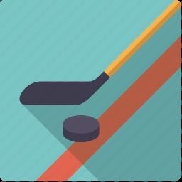 bat, ice hockey, puck, sports, stick, team sports icon