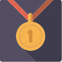 award, first, gold, golden, medal, sports, winner icon
