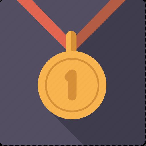 award, first, gold, golden, medal, sports, winner icon