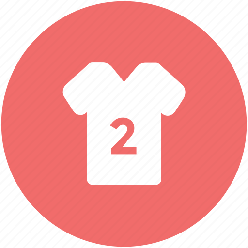 clothes, football jersey, numbered shirt, player shirt, soccer shirt, t-shirt, team uniform icon