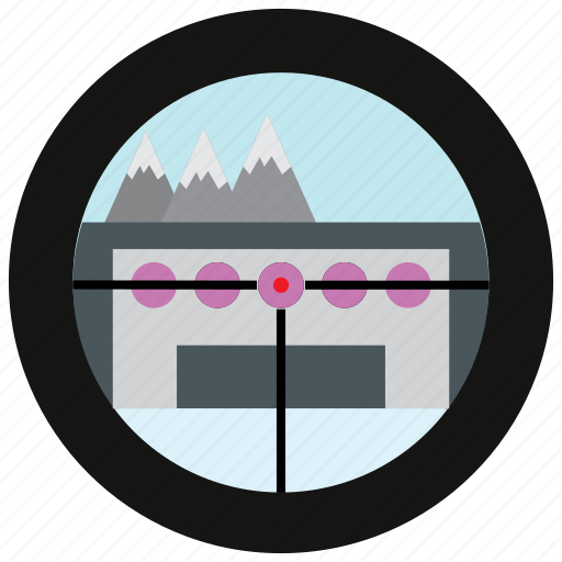 mountain, sports, target icon