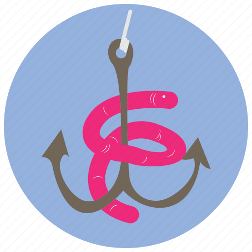 Bait, fishing, hook, sports, worm icon - Download on Iconfinder