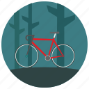 ride, trees, sports, bike, forest, outdoors