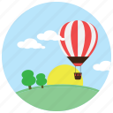 clouds, ride, tree, air, hot, sports, balloon