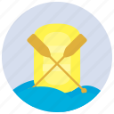 paddles, paddling, sports, waves icon