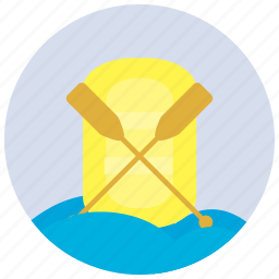 paddles, paddling, sports, waves icon