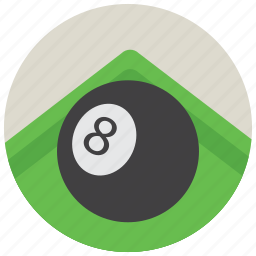 ball, eight, pool, sports, table icon