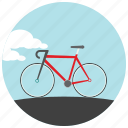 bike, clouds, cycle, outdoors, ride, sports icon