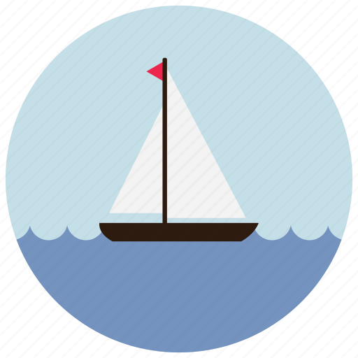 boat, ocean, sailing, sea, sports, waves icon