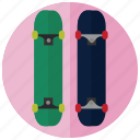 skateboard, sports, stunts, tricks icon