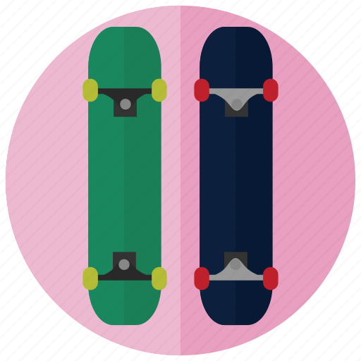 skateboard, sports, stunts, tricks icon