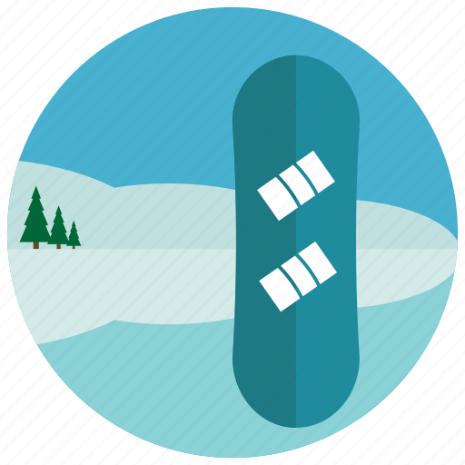 boarding, mountain, snow, sports, trees icon