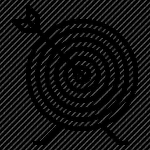 Archery, arrow, bullseye, target icon - Download on Iconfinder