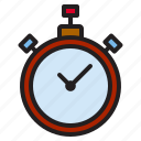 equipment, game, sports, stopwatch icon