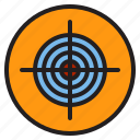 archery, arrow, bullseye, target icon