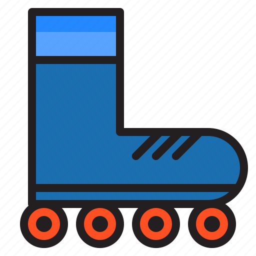 Equipment, game, roller, skate, sports icon - Download on Iconfinder