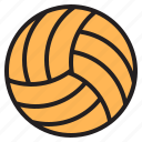 equipment, game, sports, volleyball icon