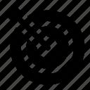 aim, archery, bullseye, dart, dartboard, objective, target icon