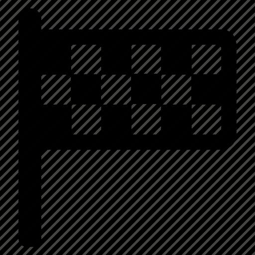 checkered, finish flag, racing flag, sports emblem, sports flag icon