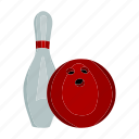 attribute, ball, bowling, competitions, inventory, skittle, sport icon