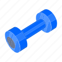 attribute, competitions, dumbbell, inventory, sport icon