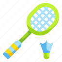 badminton, game, gaming, play, sport, sports icon