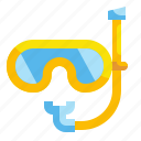 diving, snorkeling, swimming, swimming pool icon