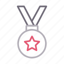 achievement, award, badge, medal, prize