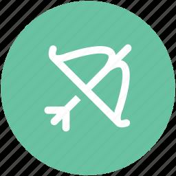 archery, archery bow, sports archery, sports equipment icon