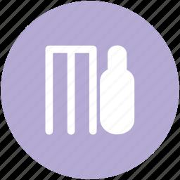 bat, cricket, cricket accessories, cricket bat, game, sports, wicket icon
