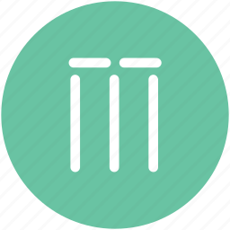 cricket, cricket wicket, game, stump wicket, wicket, wicket bails icon