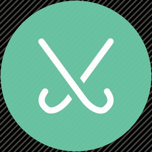 golf stick, hockey stick, ice hockey, puck, sports icon