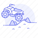 all, atv, driving, extreme, off, quadricycle, road, rough, sports, terrain, vehicle icon
