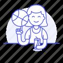 2, ball, basketball, cool, female, guy, half, soda, spin, sports, streetball icon