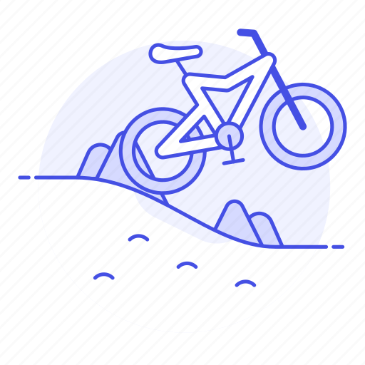 bicycle, bike, cycling, extreme, mountain, mtb, off, ride, road, rough, sports, terrain icon