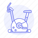 bike, center, club, equipment, exercise, fitness, gym, sports, stationary icon