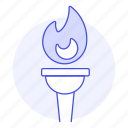 2, fire, flame, games, golden, olympic, sports, symbol, torch icon