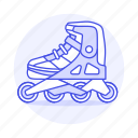 inline, kate, roller, shoe, skate, skating, sports, various icon