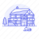 building, club, house, motor, resort, ski, skimobile, sled, snow, snowmobile, sports, winter icon