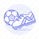 1, ball, cleats, equipment, football, gear, shoe, soccer, sports icon