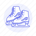 equipment, gear, ice, shoes, skating, sport, sports, winter icon