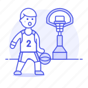 basket, basketball, game, goal, hoop, male, match, net, outfit, player, sports icon