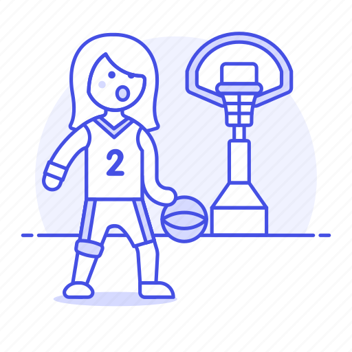 basket, basketball, female, game, goal, hoop, match, net, outfit, player, sports icon
