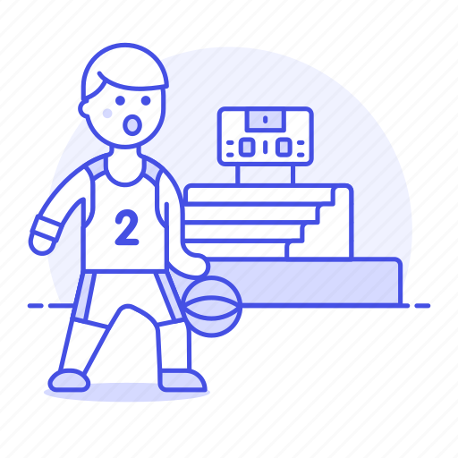 basketball, bleachers, coliseum, male, match, player, scoreboard, sports, stadium icon