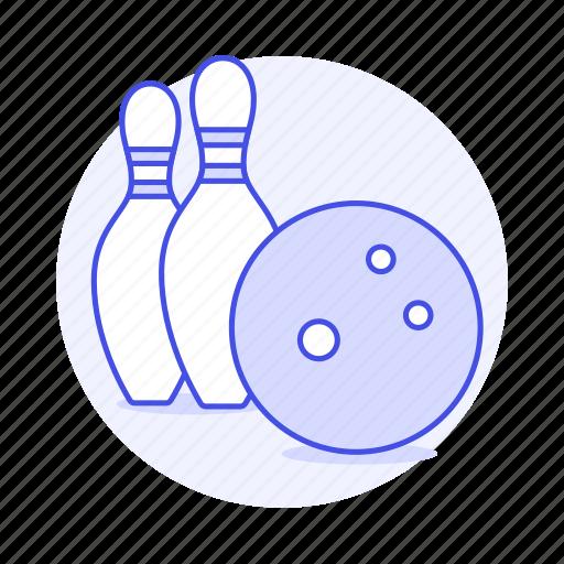 1, ball, bowling, kegling, pin, skittle, sports, ten, yellow icon