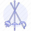 foil, fencing, combat, modern, sports, swordsmanship, disciplines