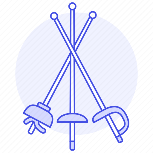 1, 3, combat, disciplines, fencing, foil, modern, sports, swordsmanship, three icon