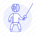 2, equipment, fencing, fighting, gear, sports, sword, swordsmanship icon
