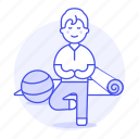 balance, ball, excercise, male, mat, pose, practice, sports, swiss, vriksasana, yoga icon