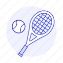 ball, racket, racquet, sports, tennis icon
